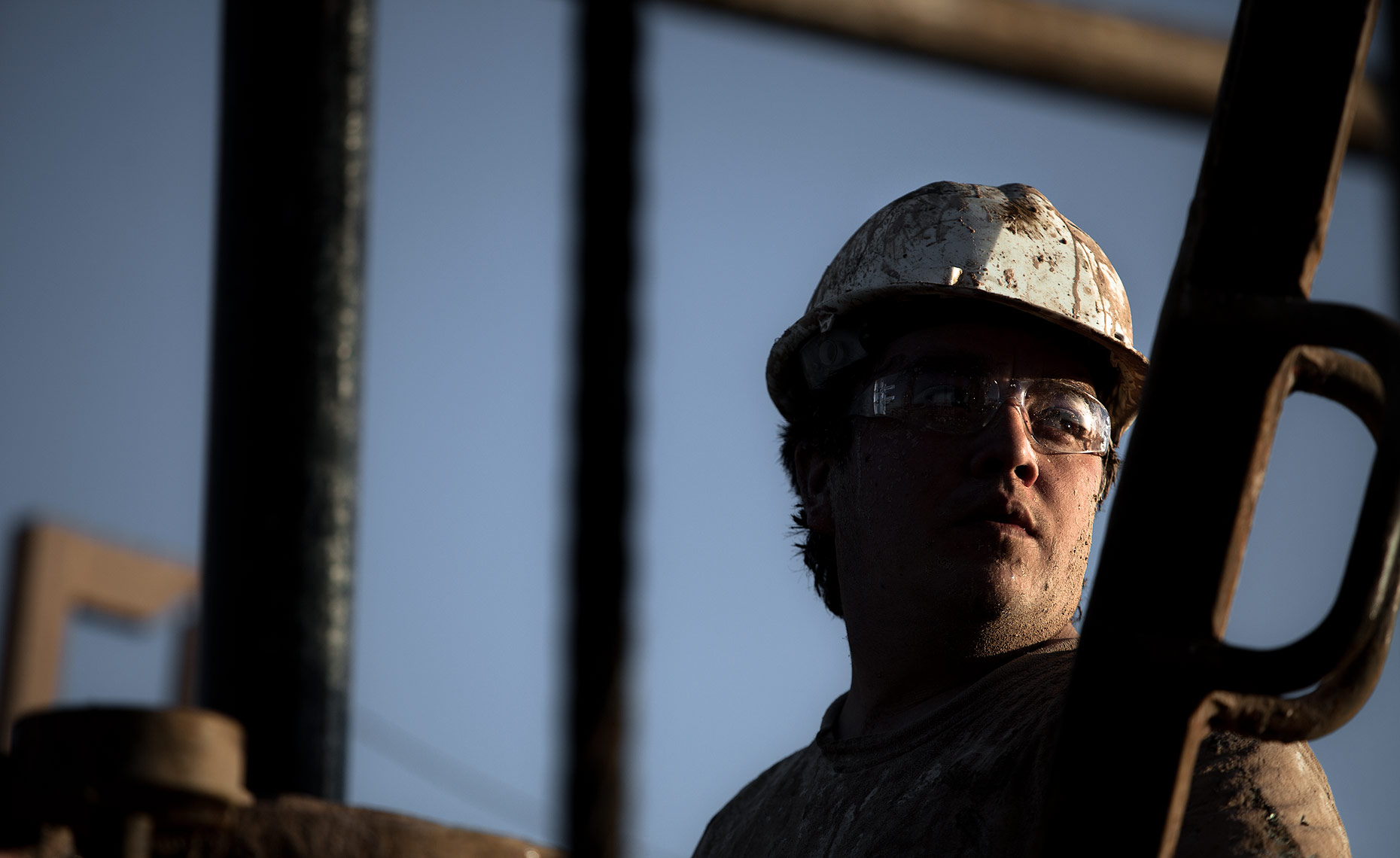 Headshot of an oil rig worker|  Scott Gable industrial photographer