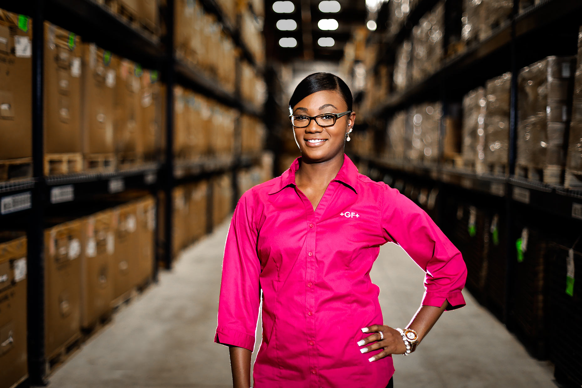 Environmental portrait of warehouse worker |  Scott Gable industrial photographer