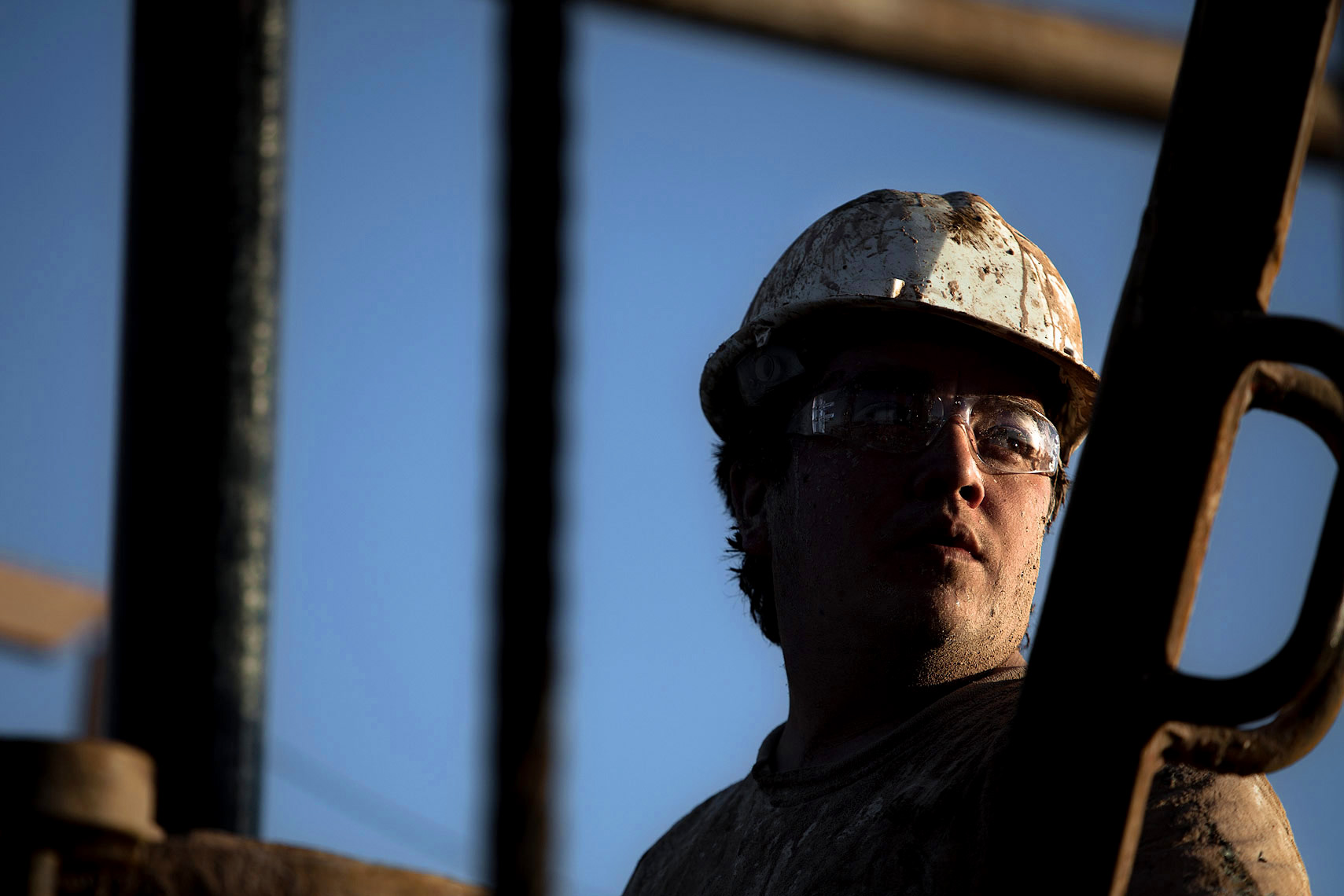 Headshot of an oil rig worker | Scott Gable industrial photographer