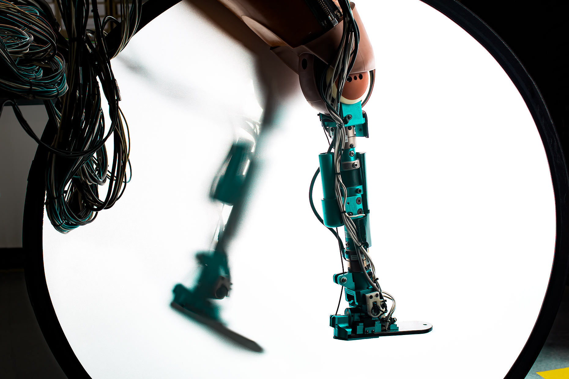 Testing robotic legs in the laboratory | Scott Gable industrial photographer