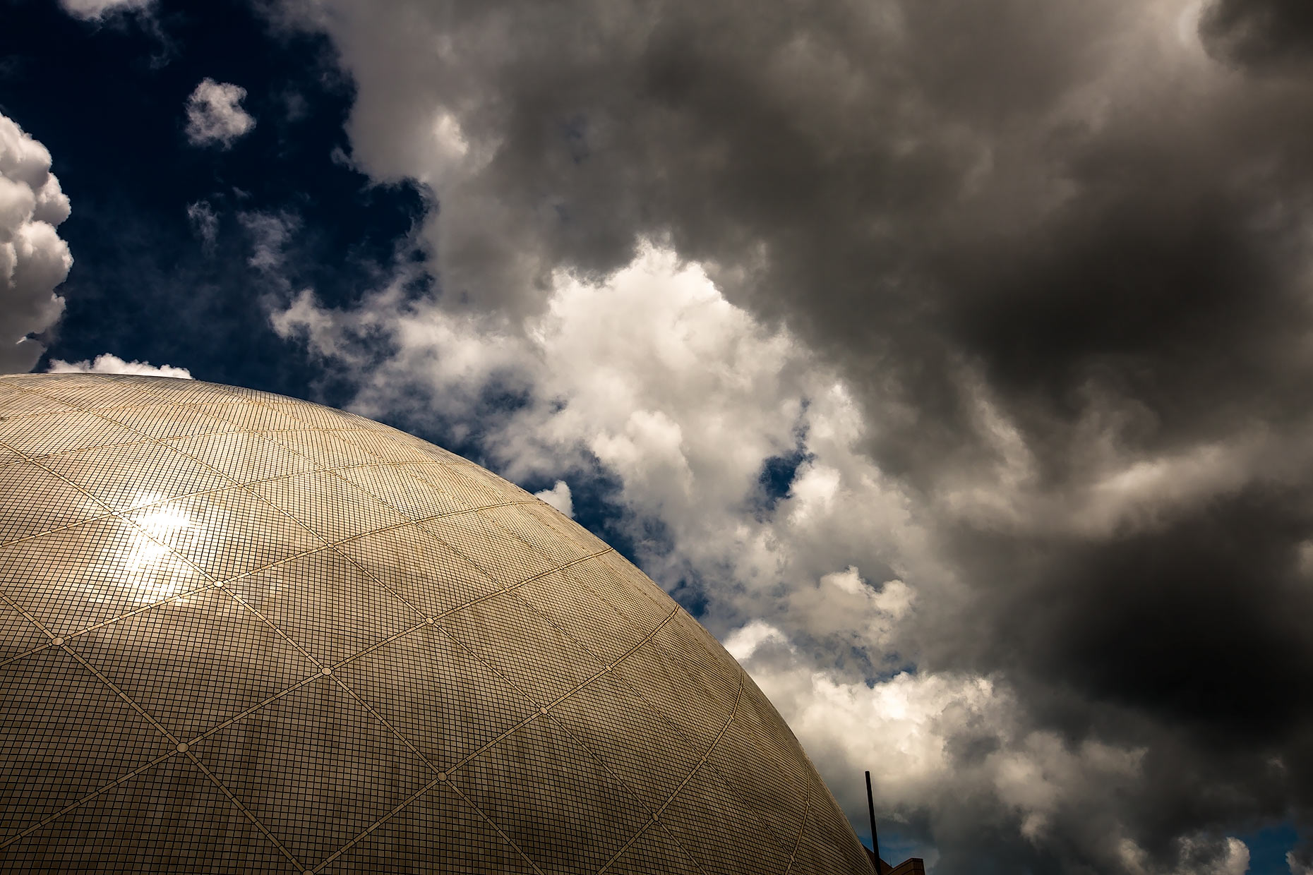 Dome and dramatic sky |  Scott Gable industrial photographer