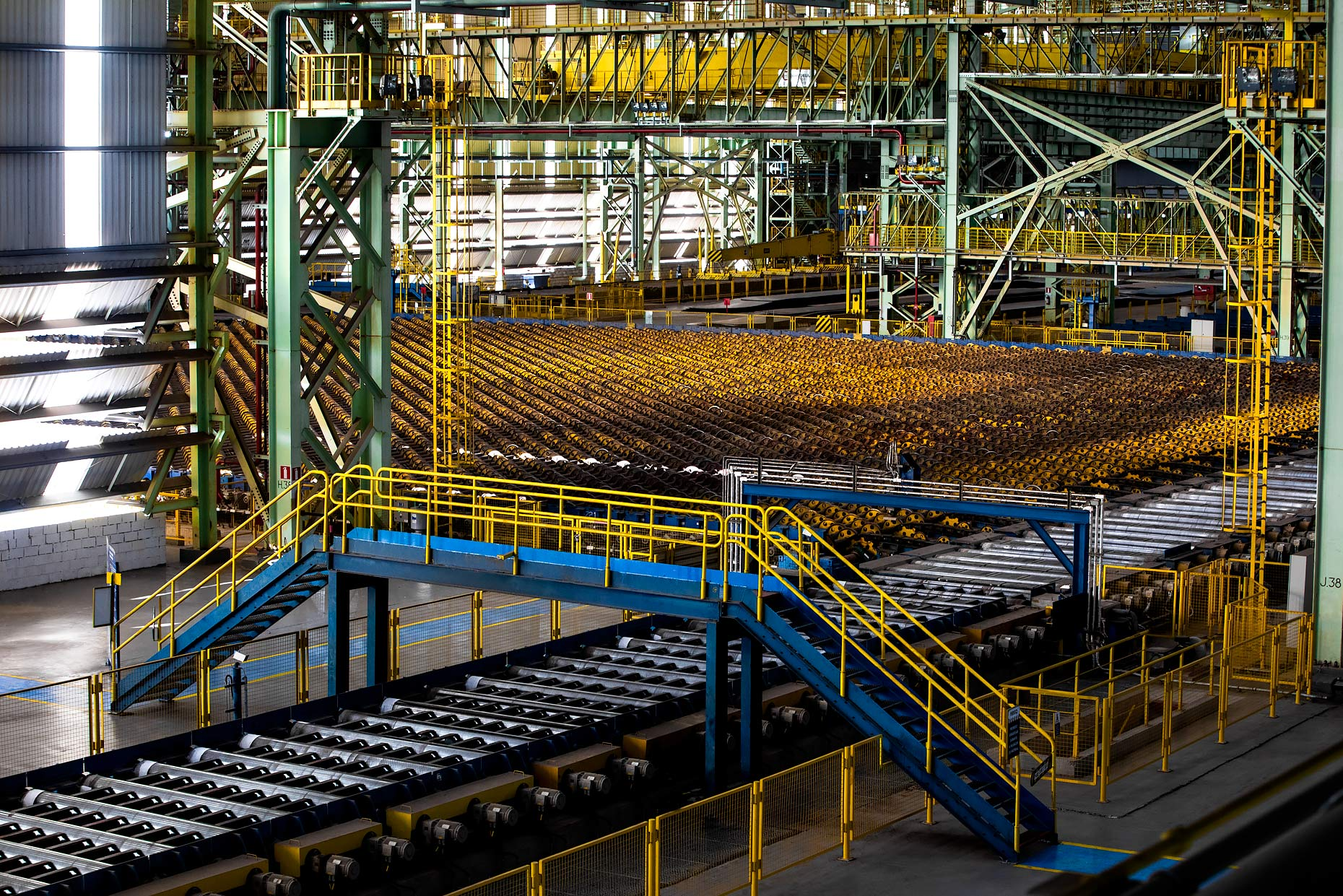 Cold rolling steel production floor |  Scott Gable industrial photographer
