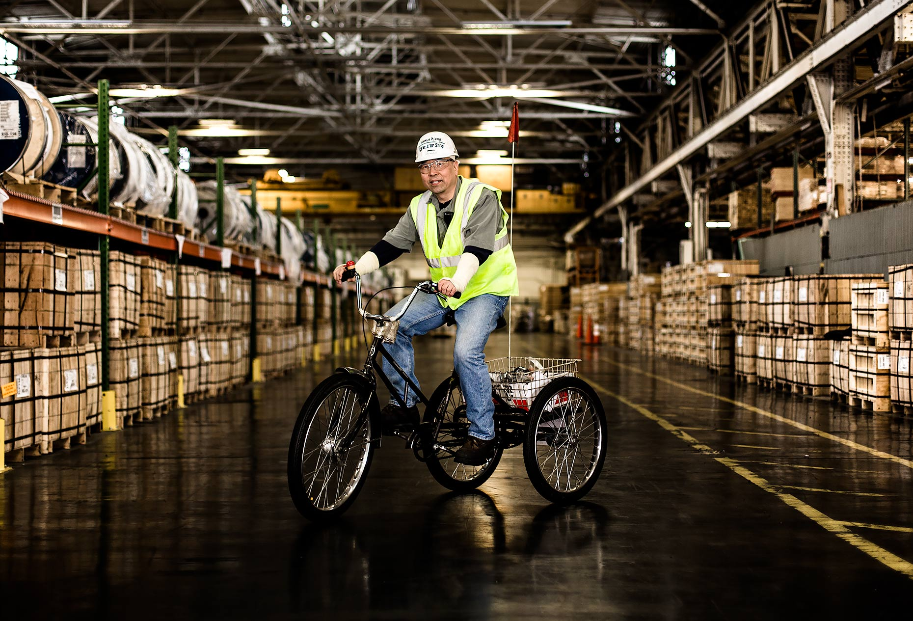 Tricycles used to pedal around Aurubis main facility | Scott Gable is an advertising and editorial photographer providing photography and video to corporate, industrial, healthcare and bio-science clients worldwide.