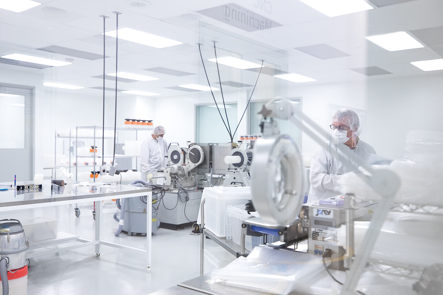 Technicians in a clean room laboratory | Scott Gable industrial photographer